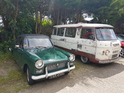 Commer van and Triumph Herald