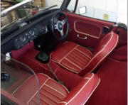 mg midget interior red